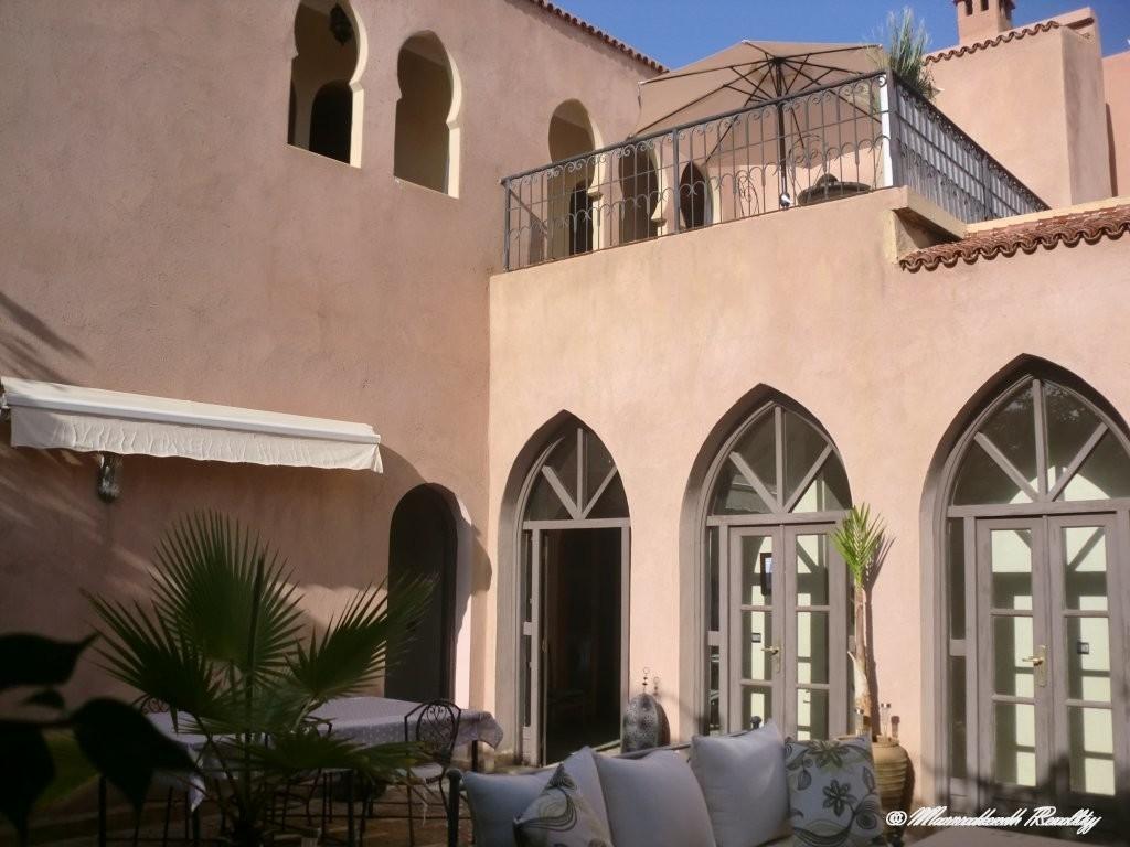 Villa riad en palmeraie avec 4 chambres
