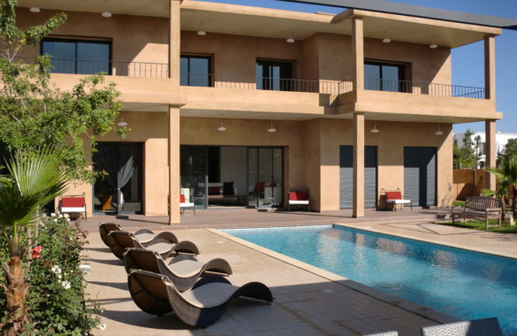 Villa contemporaine à louer en longue durée proche golf et centre ville de Marrakech