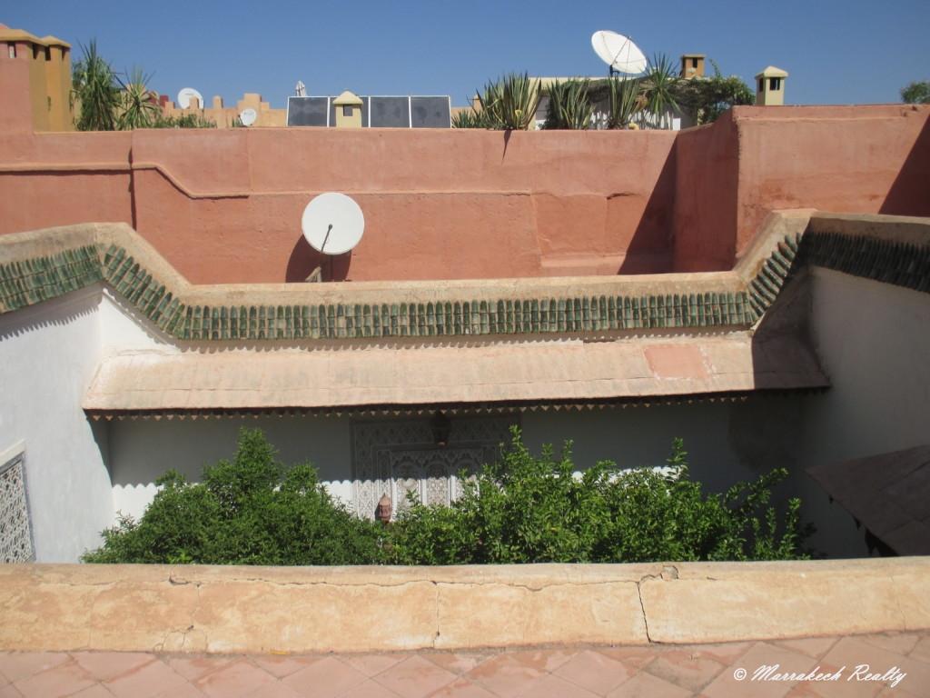 Authentique Riad arboré à vendre dans le quartier Bahia