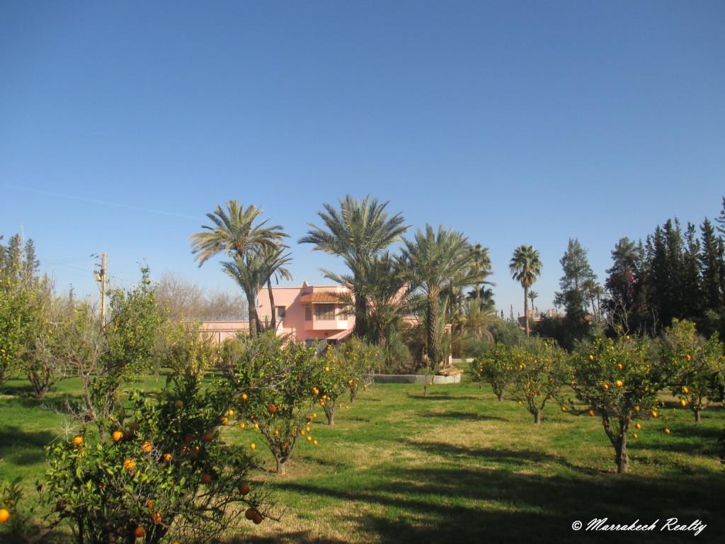 Propriété de deux villas en vente avec superbe potentiel à Marrakech