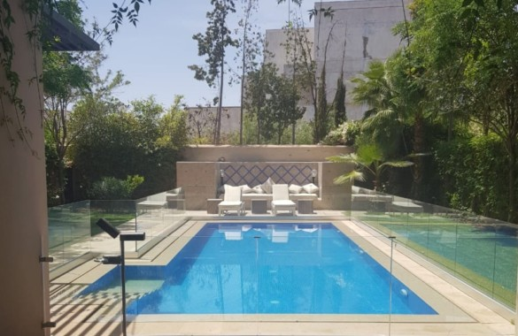 For rent long term, contemporary villa at Marrakech with private pool