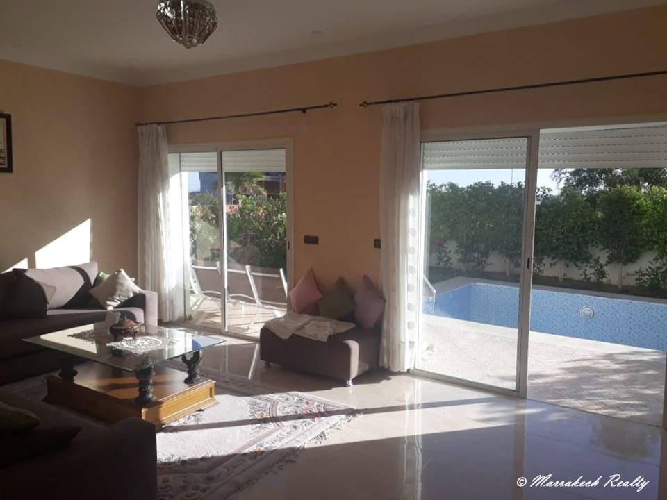 Villa à louer dans résidence golfique sur marrakech
