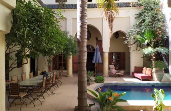 Riad ancien du  XVIIIe siècle avec grand patio