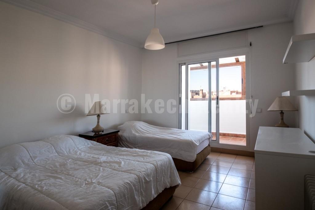 A louer, Beau duplex de 2 chambres à Gueliz Marrakech