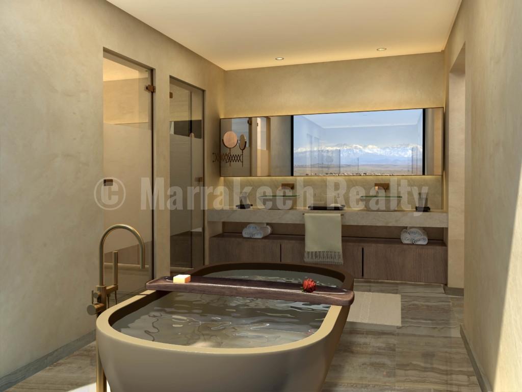 Villas de luxe de 3 à 5 chambres à vendre dans un prestigieux domaine à Marrakech