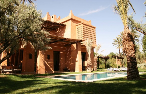 Upscale ethnic 4 bedroom villa for rent in a gated community close to Marrakech
