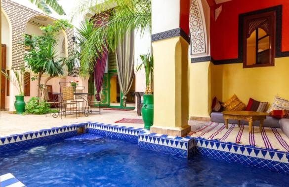Vente d'un original Riad de 8 chambres avec superbe emplacement et grand potentiel