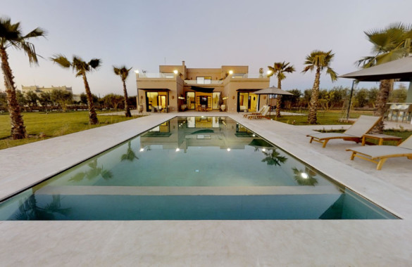 Only 20 minutes from Marrakech: exclusive new development with design villas