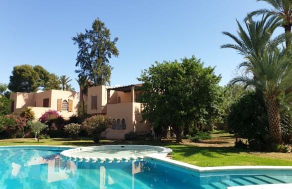 Charmante villa de 3 chambres en location longue durée en Palmeraie de Marrakech
