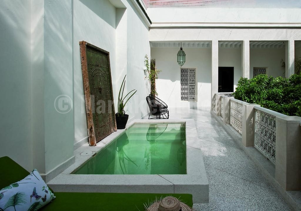 This ultra stylish 6 bedroom design Boutique-Riad in Marrakech just hit the market