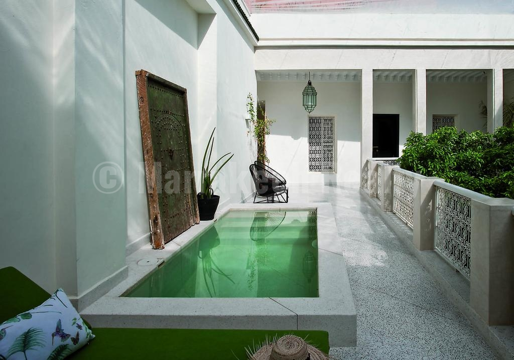 This ultra stylish 6 bedroom design boutique riad in - Riad medina marrakech avec piscine ...