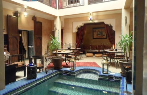 Riad traditionnel de 6 chambres exploité en Maison d'Hôtes en Medina de Marrakech