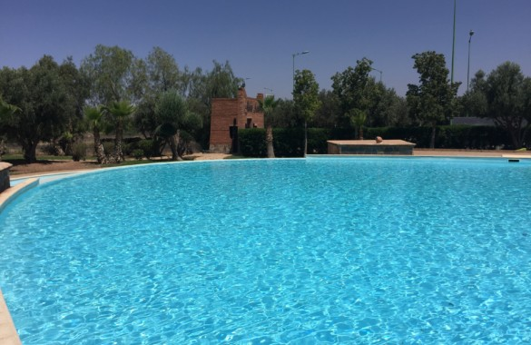 For rent close to Marrakech: 2 bedroom appartment with roof-terrace