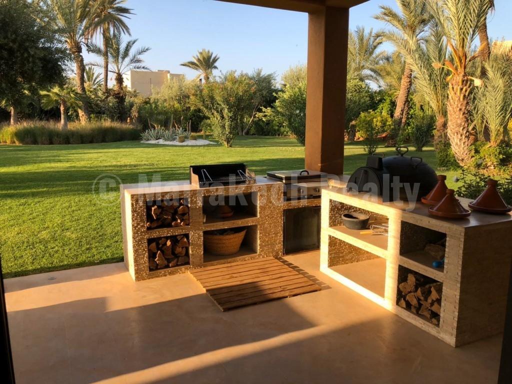 Superbe villa de 4 chambres à vendre dans un domaine privé en Palmeraie de Marrakech