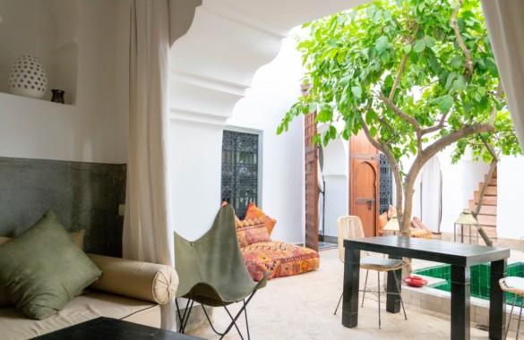 Charmant Riad épuré de 6 chambres à vendre en Medina de Marrakech