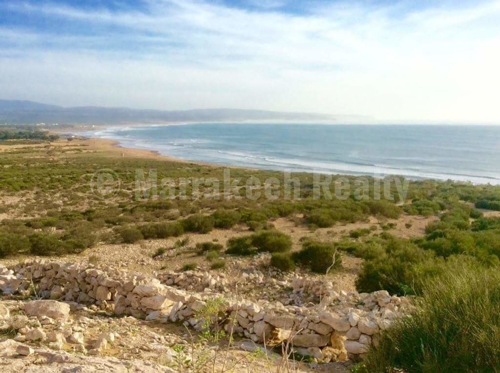 Exceptional waterfront land site for sale in Essaouira