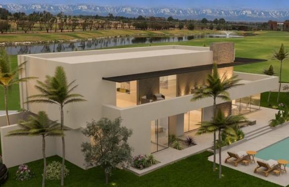 Villa de luxe à vendre en premier rang sur un parcours de golf prestigieux à Marrakech