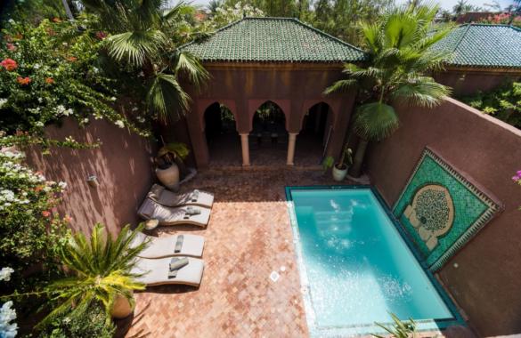 Belle Villa-Riad avec piscine à louer en longue durée à proximité de Marrakech