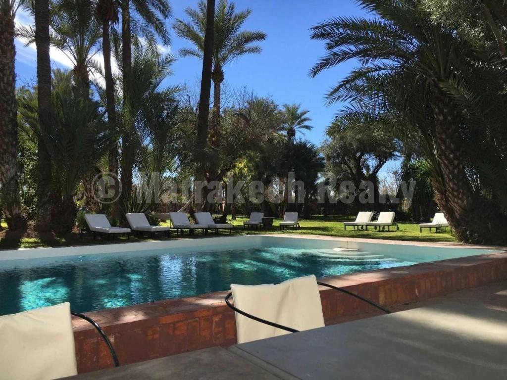 Exceptionnelle propriété à louer dans la Palmeraie de Marrakech
