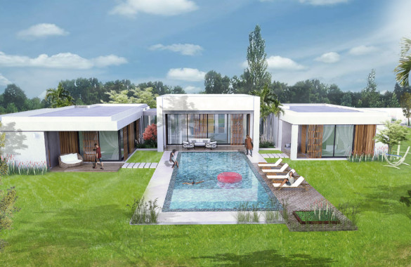 Contemporary 4 bedroom villa for sale in a gated community close to Marrakech