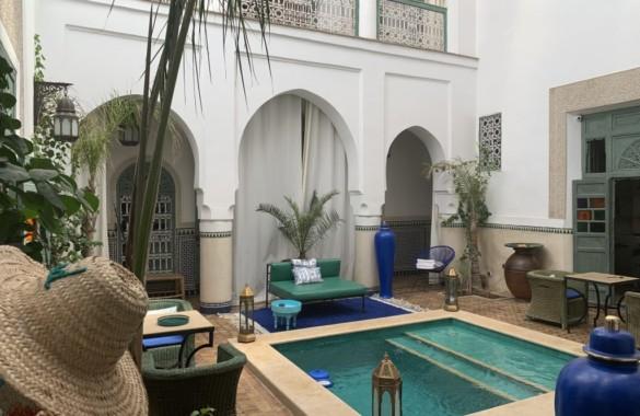 Elégant Riad rénové de 6 chambres à vendre à proximité de la place Jemaa el Fna