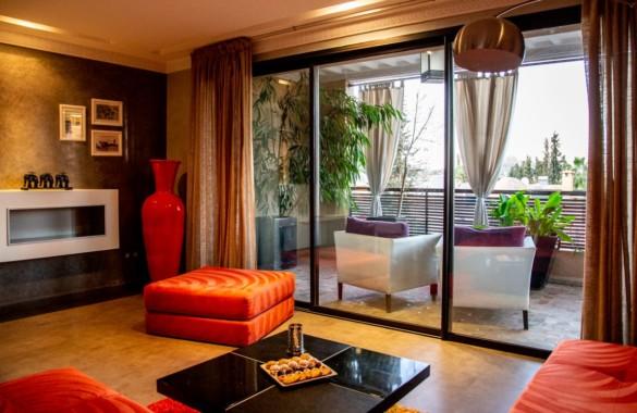 Bel appartement de 2 chambres à louer au coeur de Gueliz