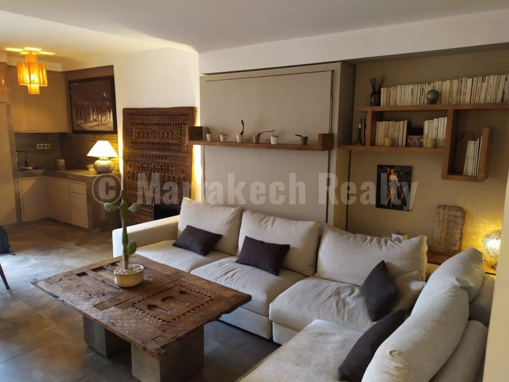 Appartement contemporain : rare opportunité en centre ville de Marrakech