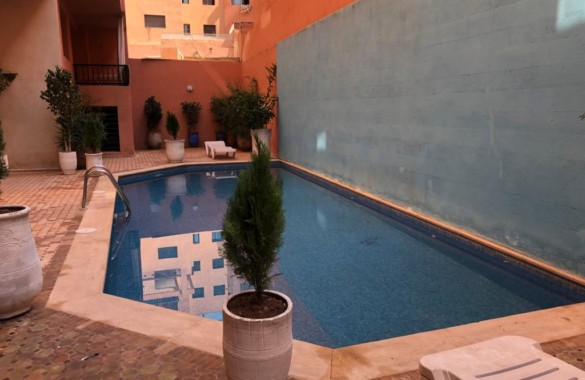Standout 2 bedroom apartment with swimming-pool in Gueliz