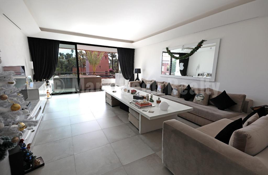 A saisir: exceptionnel appartement de 2 chambres face au Jardin Majorelle