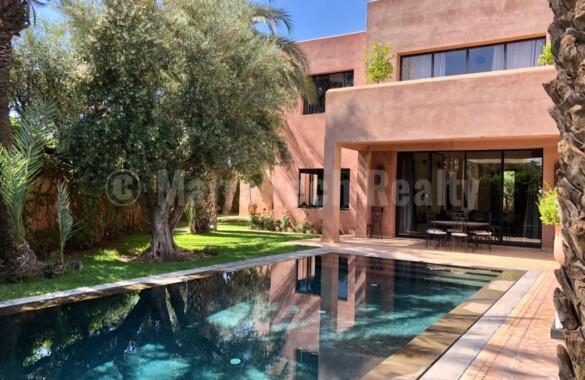 Belle villa de 5 chambres sur un golf prestigieux de Marrakech
